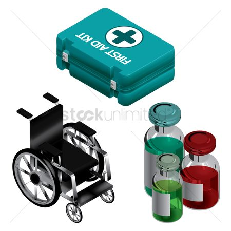 Wheelchair : Medical set