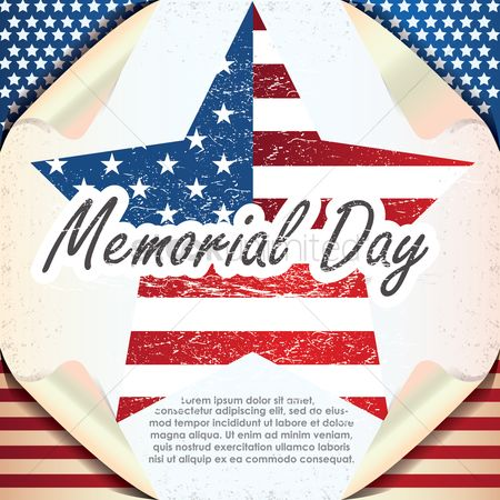 Patriotics : Memorial day background with text