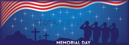 Month : Memorial day banner