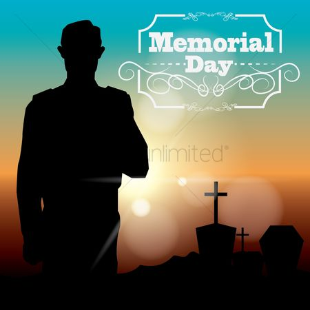 Soldiers : Memorial day poster