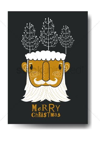 Santa : Merry christmas design