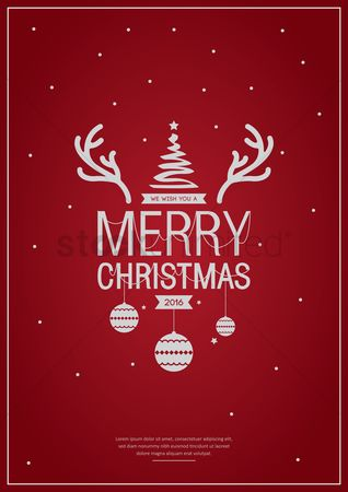 Festival : Merry christmas poster design
