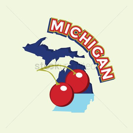Cartography : Michigan map