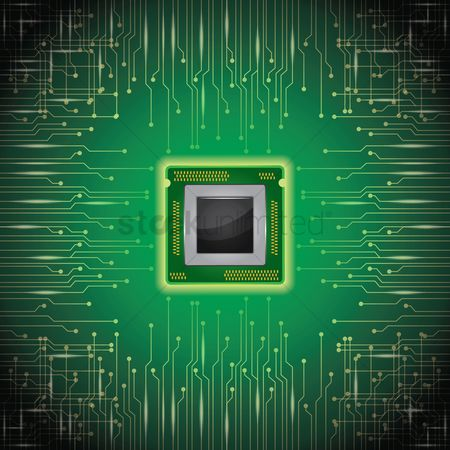 Chip : Micro chip on circuit board wallpaper