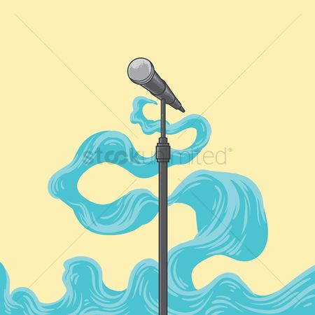 Broadcasting : Microphone on stand