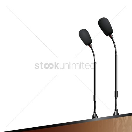 Interact : Microphone stand on a podium