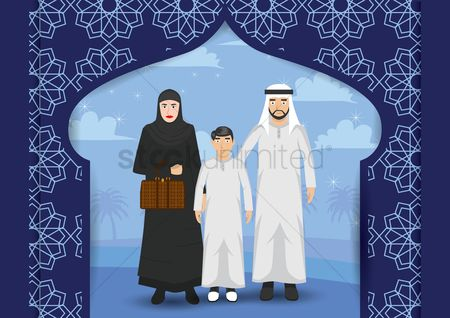 Arch : Middle eastern family portrait