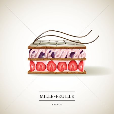 French food : Mille-feuille