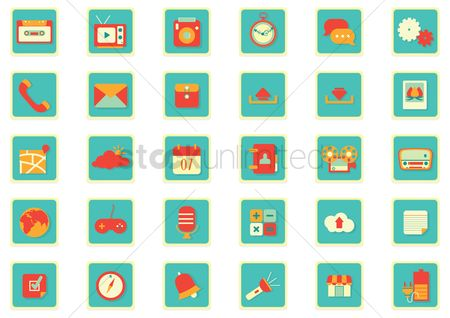 Charging icon : Mobile app icon set