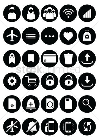 Notification : Mobile app icon set