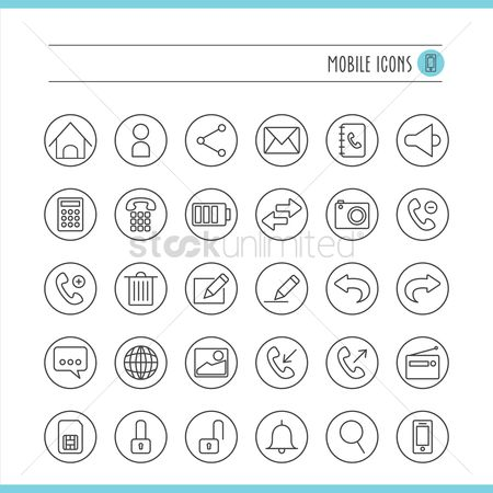 Cameras : Mobile icon set