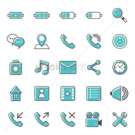 Setting : Mobile icon set