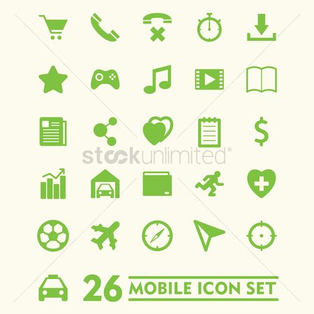 Favourites : Mobile icon set
