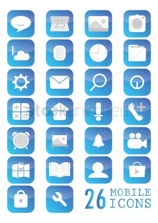 Notification : Mobile icon set