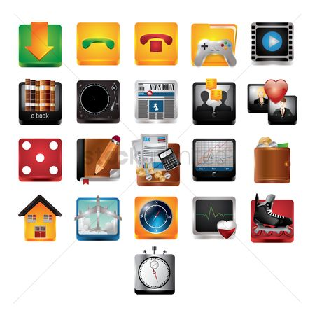 User interface : Mobile icons