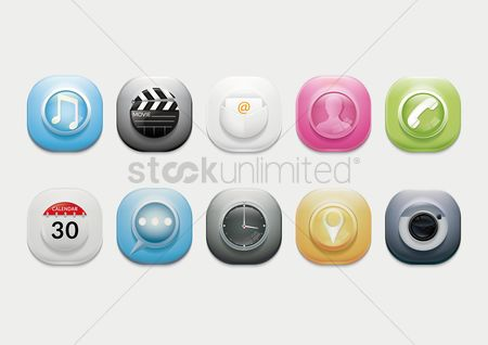Audio book : Mobile icons