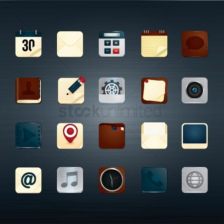 Pad : Mobile icons