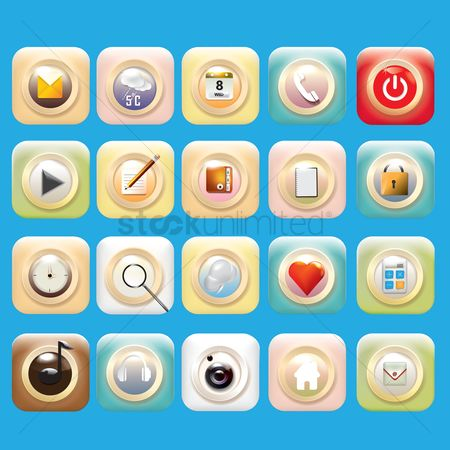 Temperatures : Mobile icons