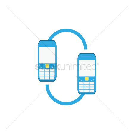Technology : Mobile phone connected to each other