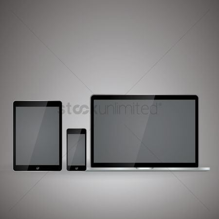 Screens : Mobile technology concept