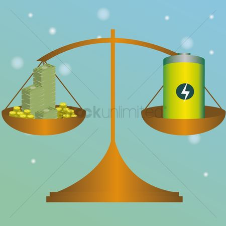 Common balance : Money and battery in balance