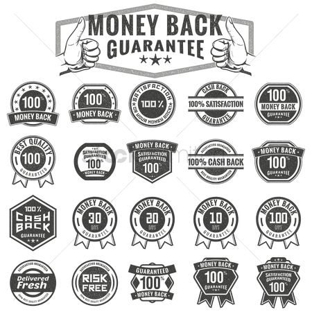 Vintage : Money back guarantee labels