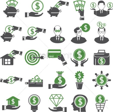Shopping cart : Money icons