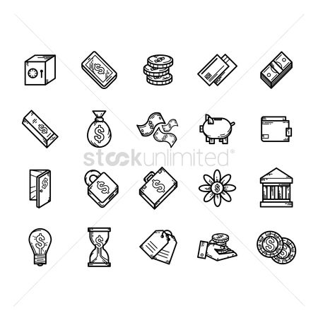 Linear : Money icons
