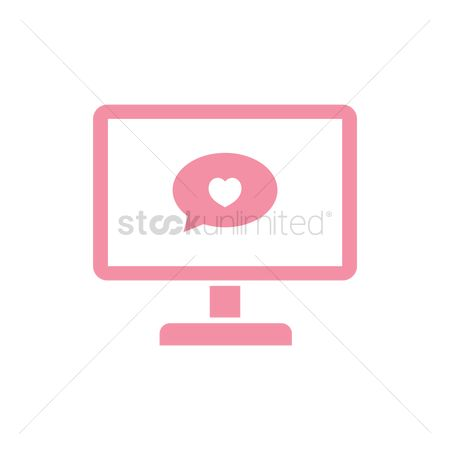 Love speech bubble : Monitor with speech bubble