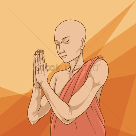 Zen : Monk praying