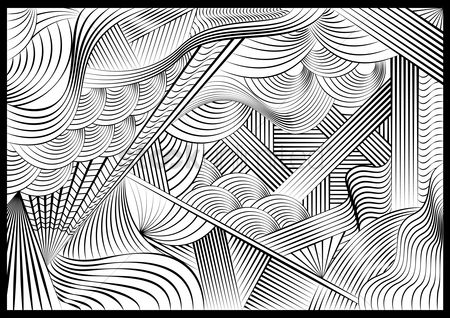 Sketching : Monochrome pattern design