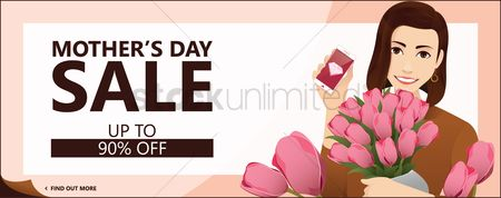 Mothers day : Mothers day sale banner