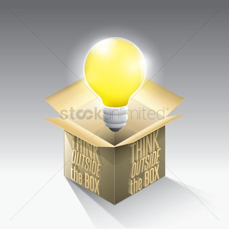Thinking : Motivational quote with idea bulb