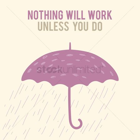 Umbrella : Motivational quote