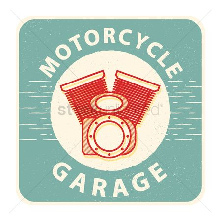 Motorcycles : Motorcycle garage sign