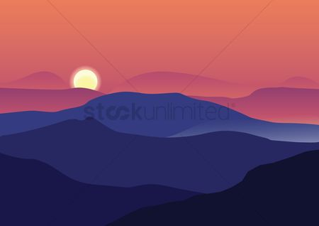 Decorations : Mountains background design