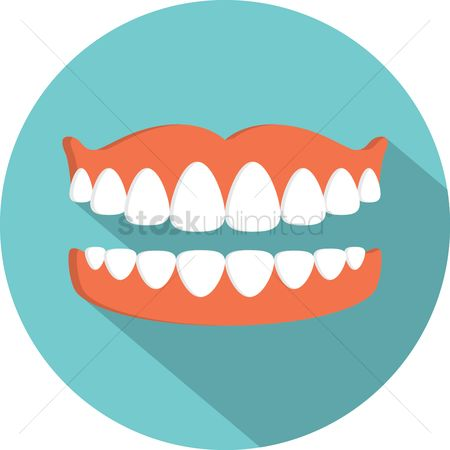 Dentist : Mouth with teeth