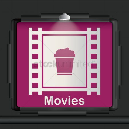 Lighting : Movies advertisement board