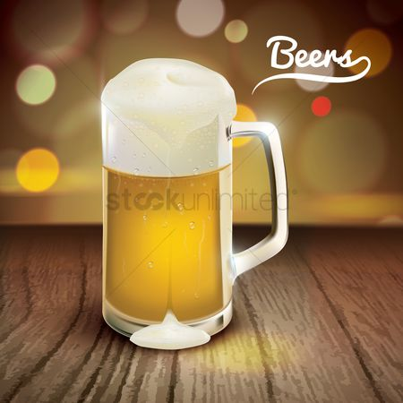 Alcohols : Mug of beer