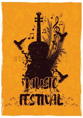 Musical instruments : Music festival concept