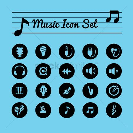 Volume : Music icon set