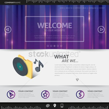 Audio : Music website design