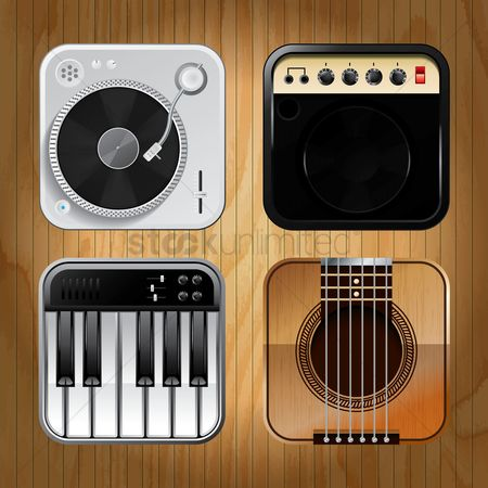 Audio : Musical icons set