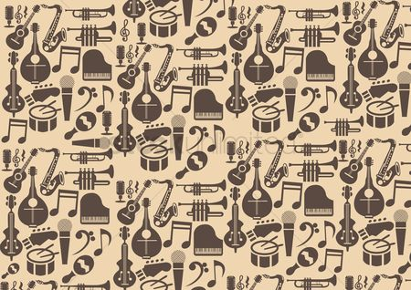 Microphones : Musical instrument background