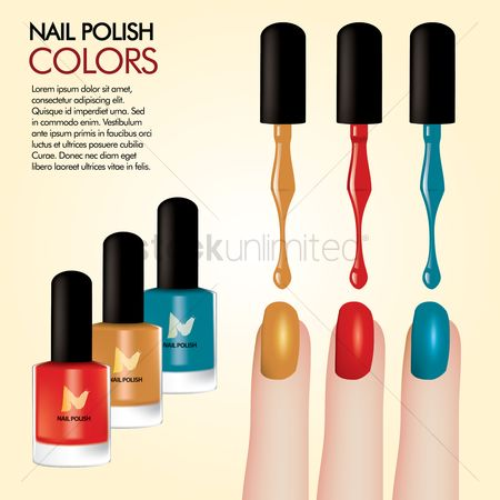 Cosmetic : Nail polish background design