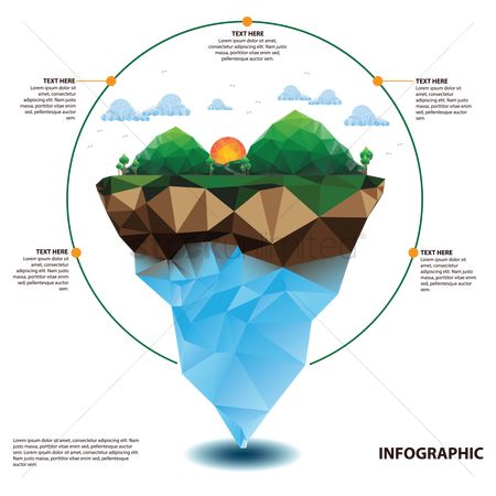 Polygon : Nature infographic