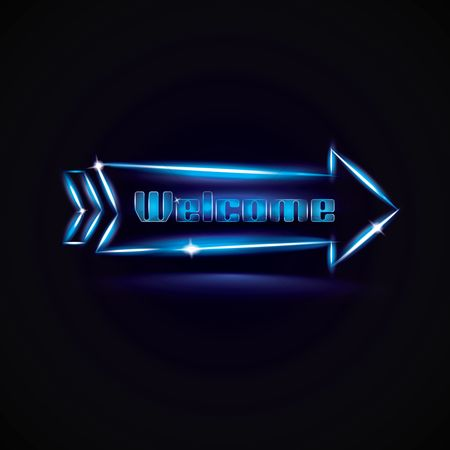 Pub : Neon light welcome signage