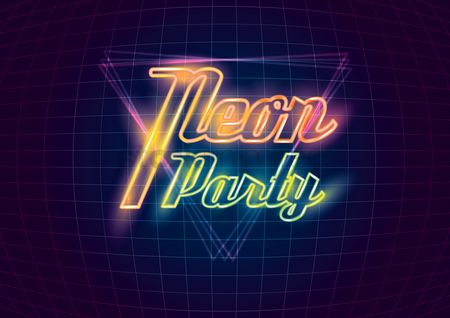 Pub : Neon party design