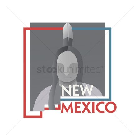 Headdresses : New mexico state map