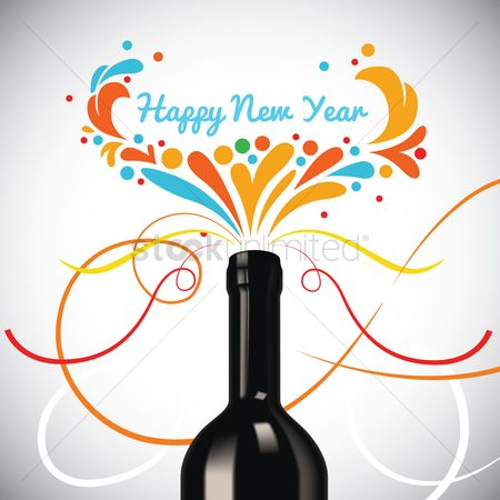 Champagnes : New year greeting